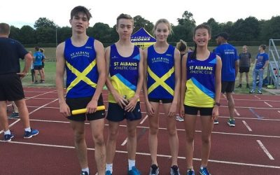 St Albans Striders Event at the track…